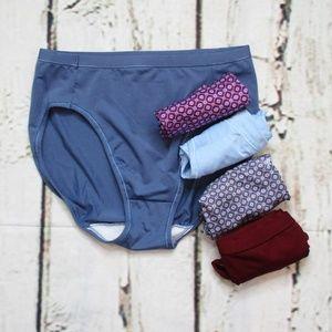 Hanes Womens Microfiber High Cut Panties